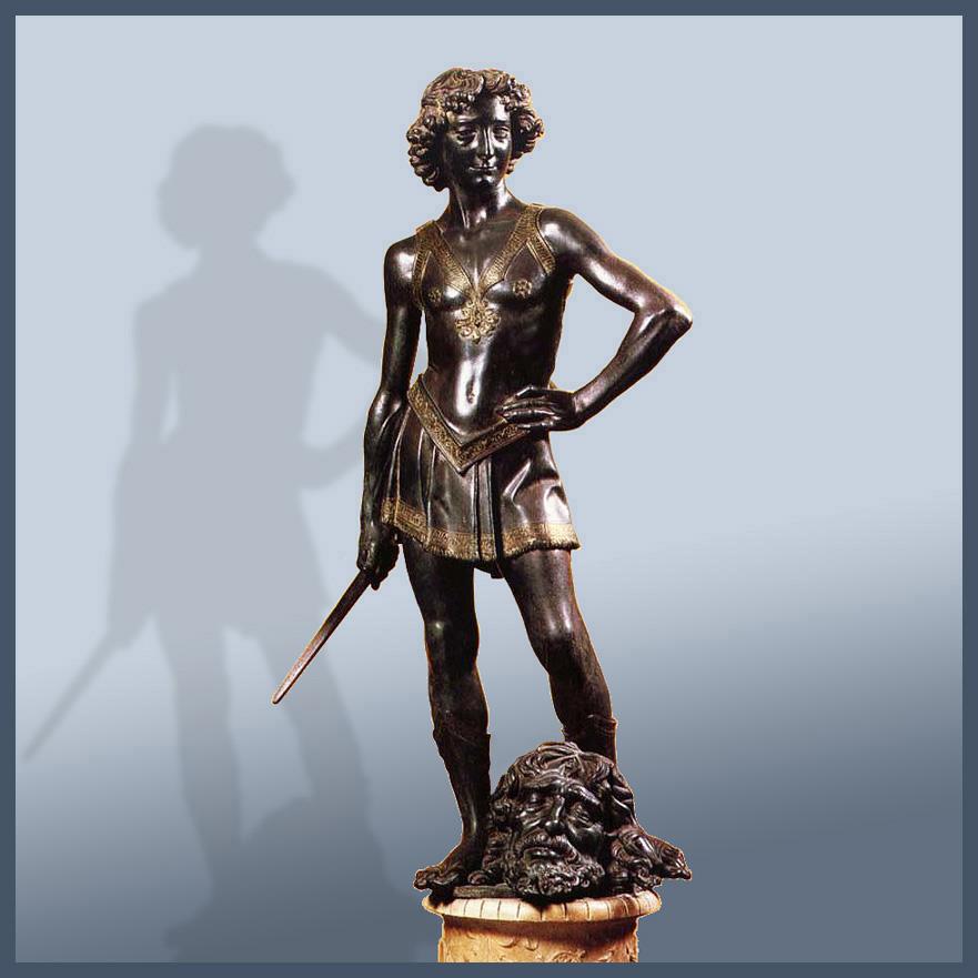an analysis of the sculptures of david by donatello and andrea del verrocchio The bronze statues by donatello and verrocchio  see seymour, michelangelo's david, 140–155 and for an analysis,  andrea del castagno, scudo di david.