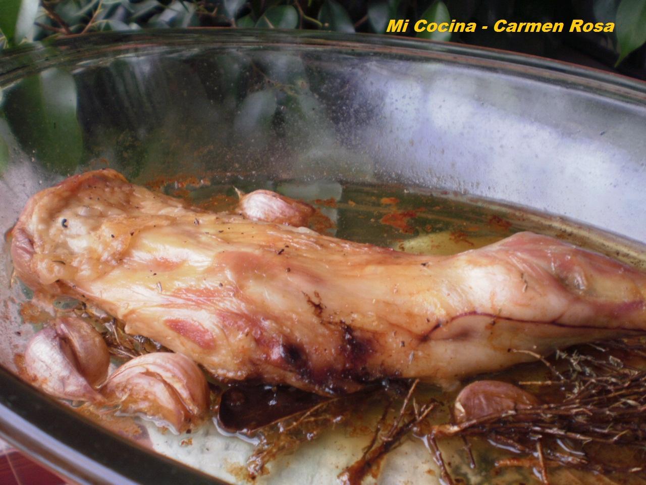 Mi cocina paletilla de chivo lechal malague o al horno - Cocina con carmen ...