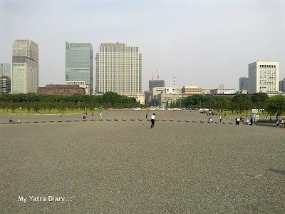 Vast open land in front of the Imperial Palace and Gardens, Tokyo - 1