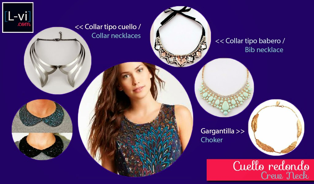 [How to: Necklines & Necklaces] Cuellos y Collares - Crew neck  L-vi.com