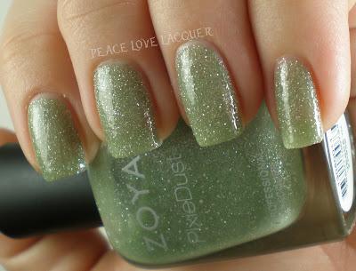 Zoya, PixieDust, Pixies, texture polish, sparkle, green, mint