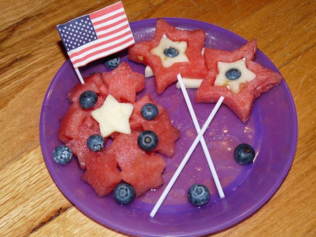 4th of July melon star