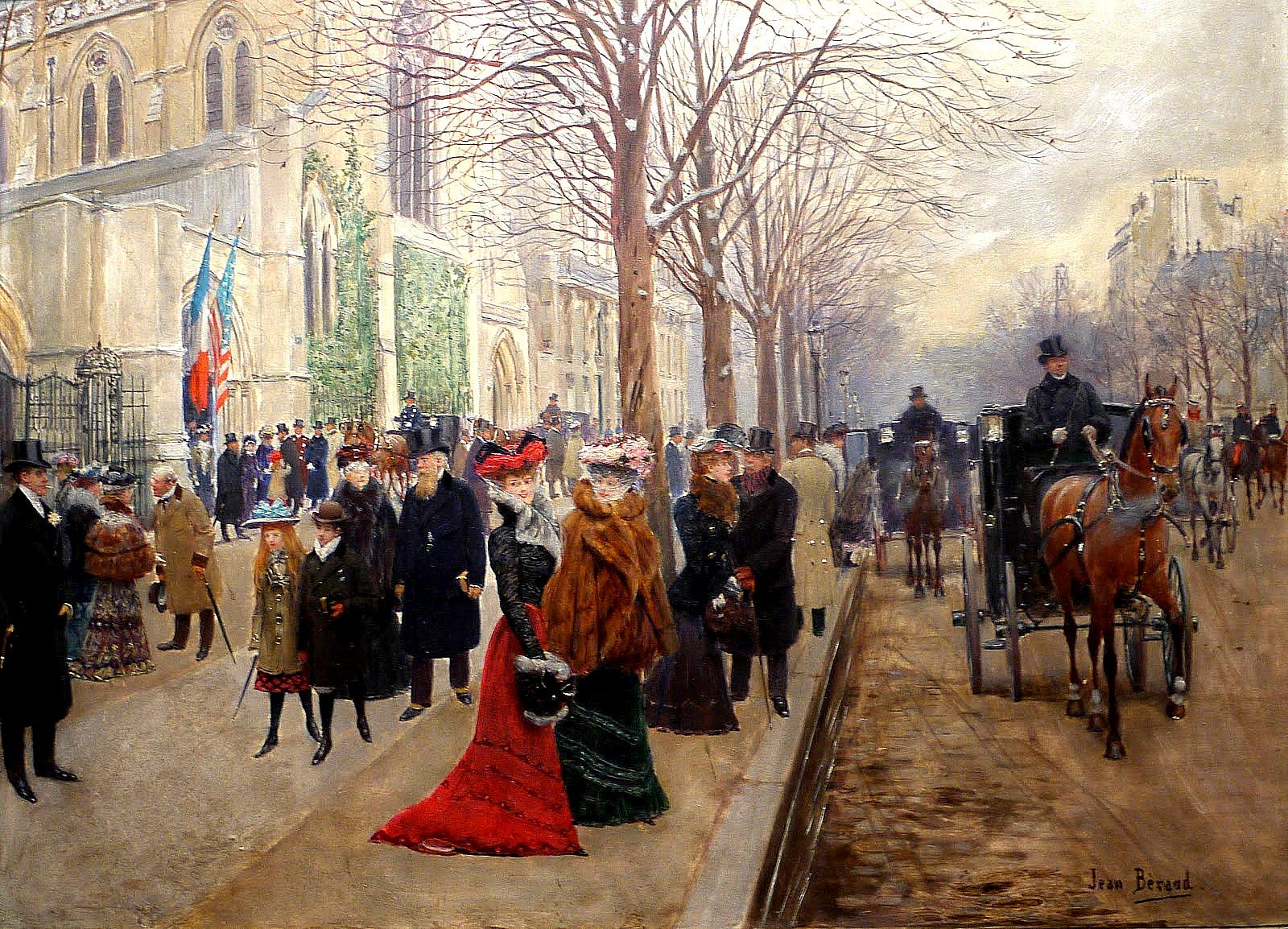 Jean    C Araud  Apres  l office  a  l eglise  de  la  Sainte Trinite C