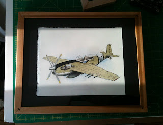 drawing of airplane in a frame