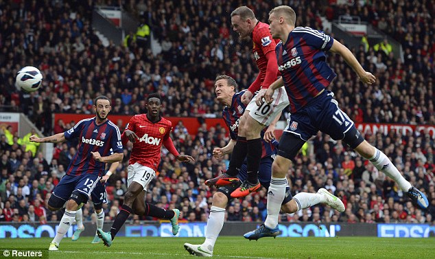 Hasil Pertandingan Manchester United MU vs Stoke City 4-2, 20 Okt 2012
