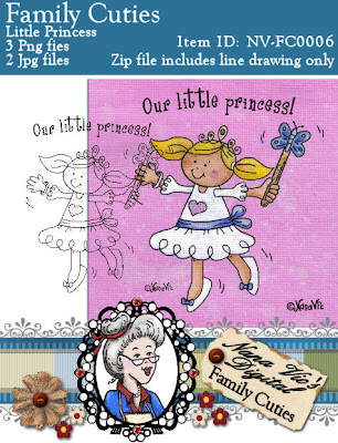 Digital Stamp, Little Princess from the Family Cuties Collection