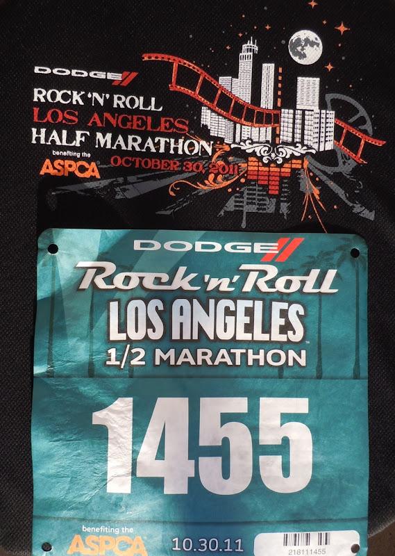Rock n Roll LA Half Marathon bib