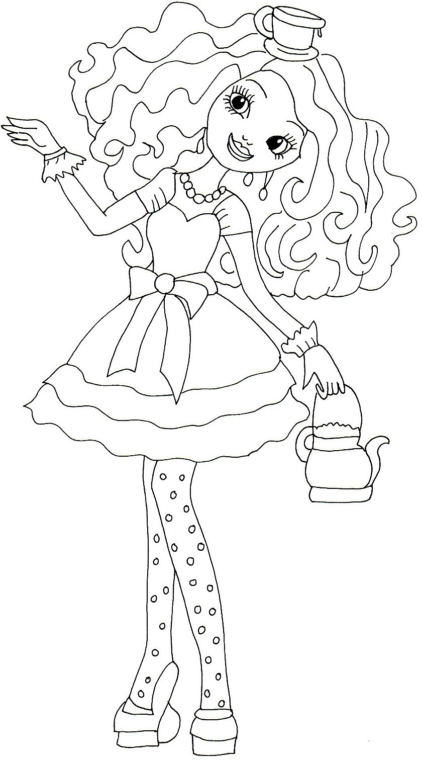 Free printable ever after high coloring pages madeline for Madeline coloring pages printable