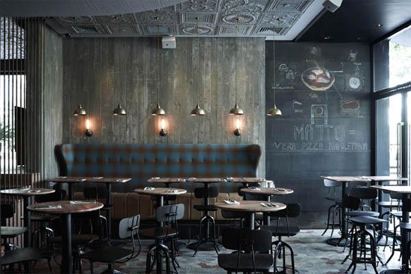 vista general del mobiliario industrial restaurante