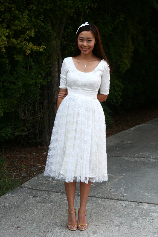 Frugal Fashion Turn A Thrifted Wedding Gown Into A Stunning Boho Chic Dress Utah Sweet Savings