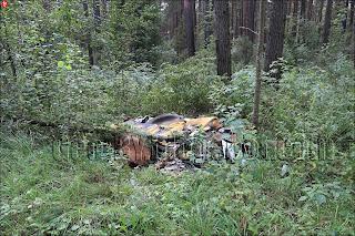Свалка мусора на дороге из Столбцов в Окинчицы