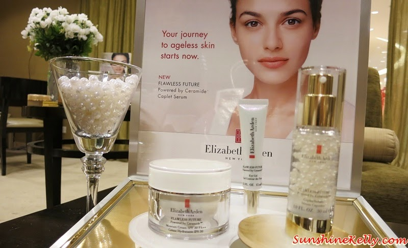 Elizabeth Arden Flawless Future Powered by Ceramide, Caplet Serum, Moisture Cream SPF30, Non-SPF, Eye Gel, Elizabeth Arden