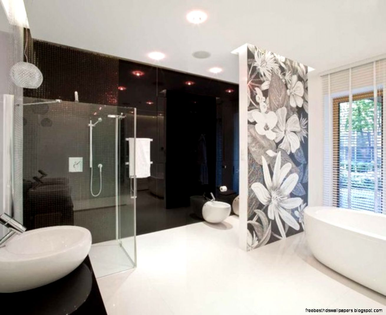 Wallpaper feature wall ideas free best hd wallpapers for Black feature wall bedroom