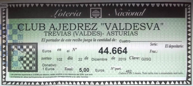 Lotería Valdesva 2019