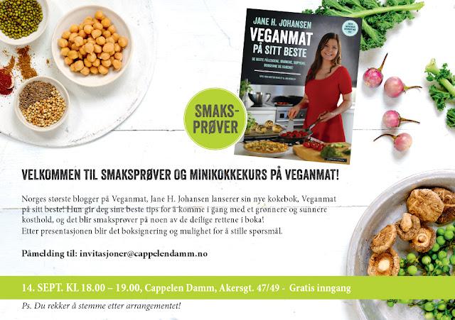 Veganmat På Sitt Beste Kokebok Lansering Cappelen Damm Vegankokk Jane H. Johansen