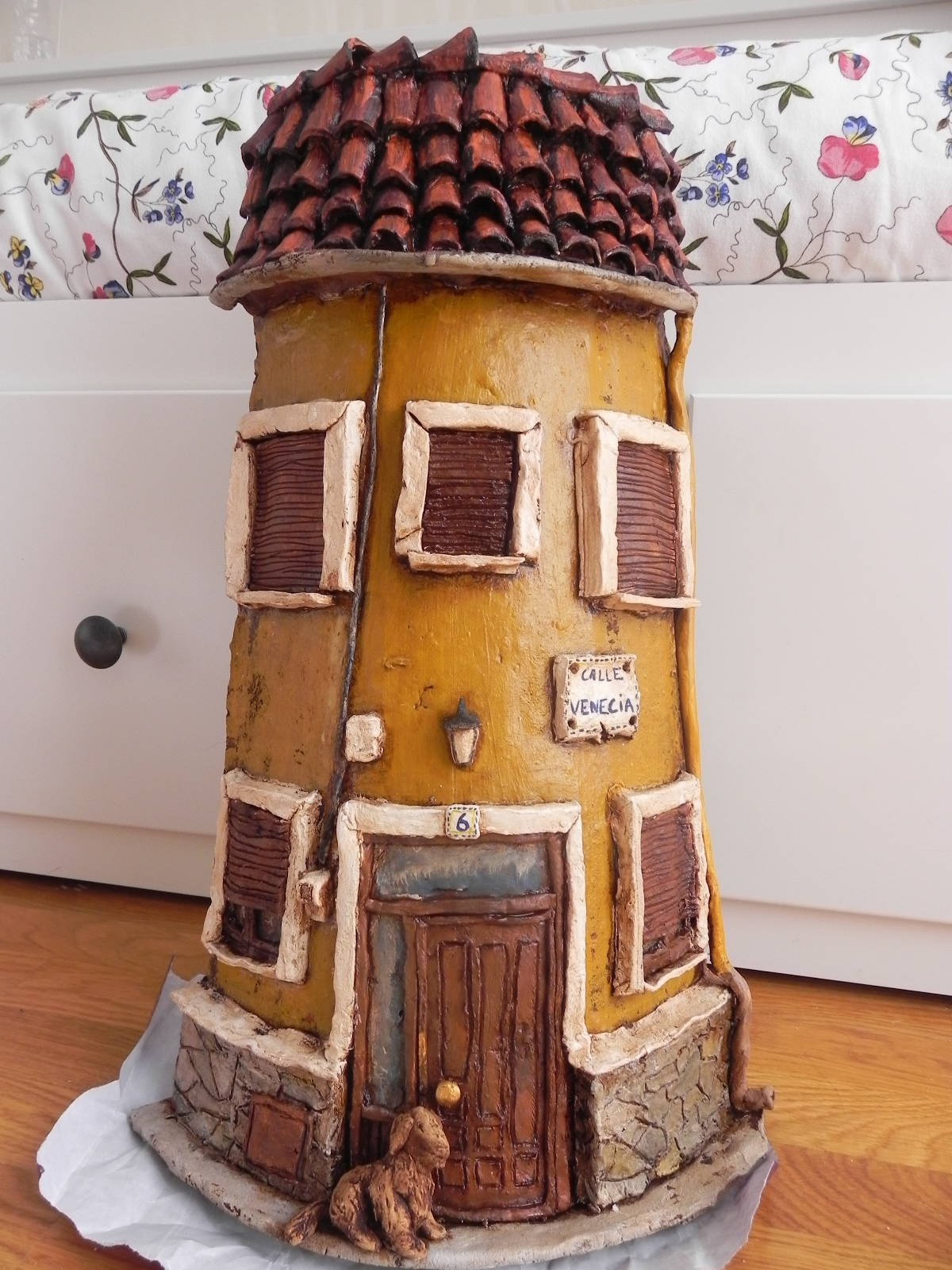 Kekotes tejas decoradas artesanales - Como decorar tejas rusticas ...