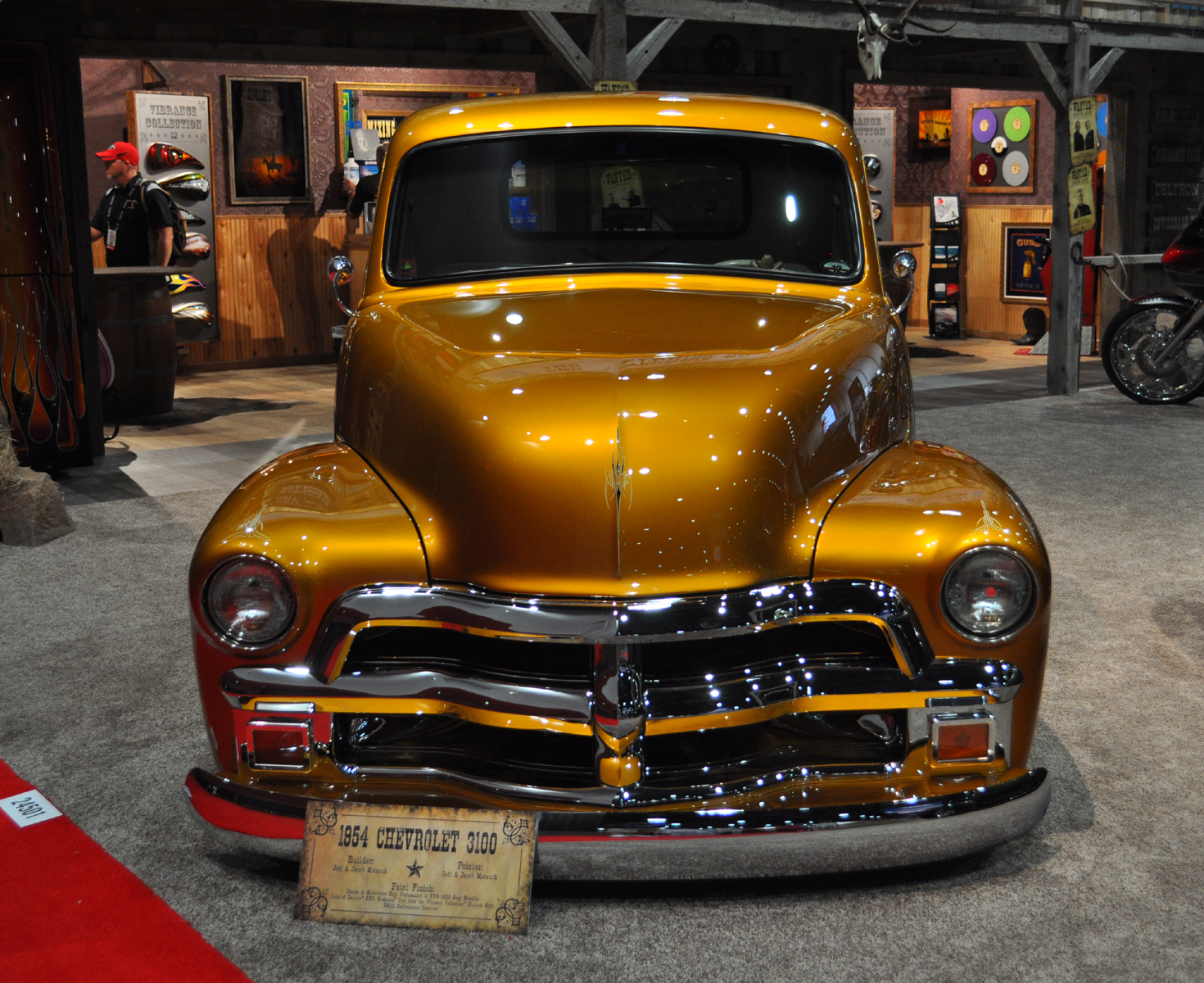 Just a car guy  1954 Chevrolet 3100 pick up truck in the PPG booth