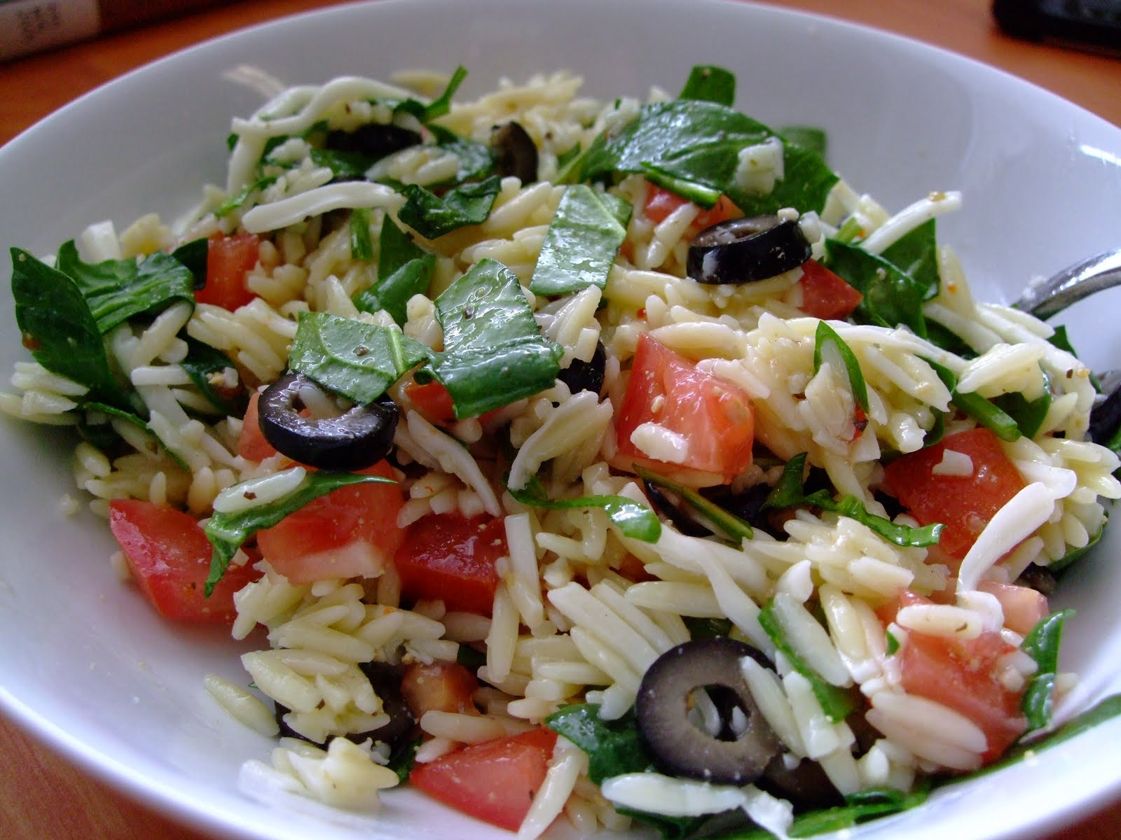 Selin: Spinach orzo salad