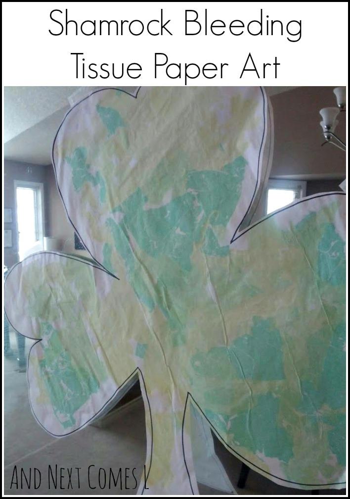 And Next Comes L Shamrock Bleeding Tissue Paper Art