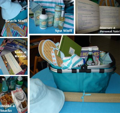 Beach Wedding Gift Bag Ideas : ... gift bag, tote, basket, bucket, or canister to make these welcome bags