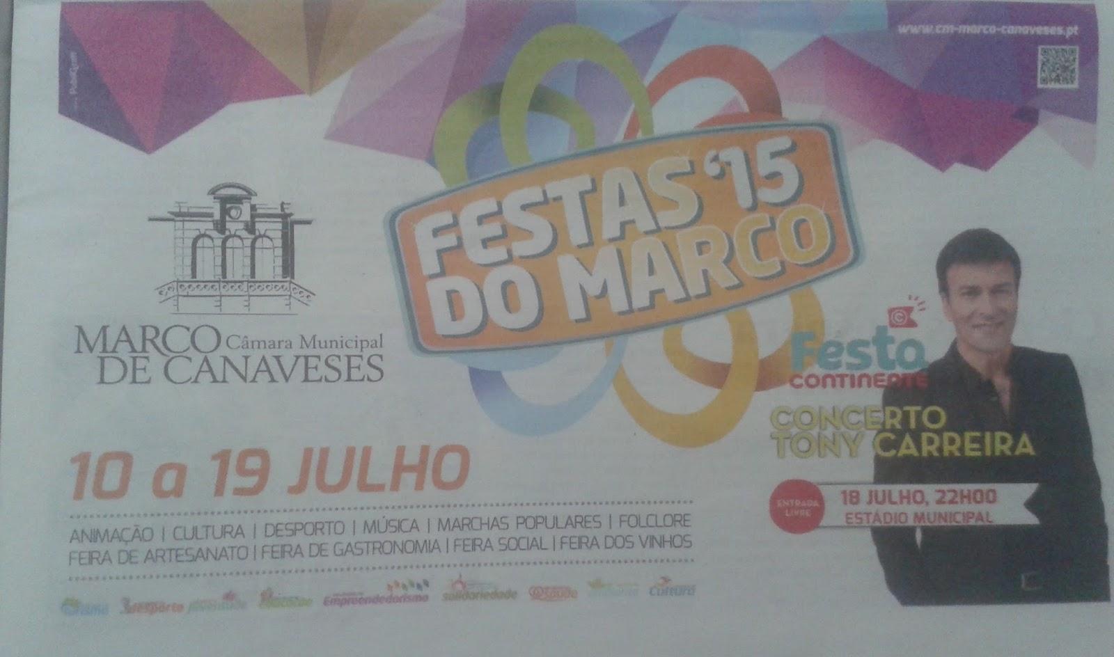 Programa das festa de Marco de Canavezes