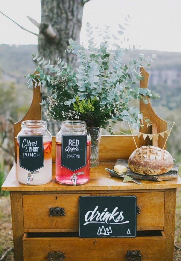 How To Simplify 10 DIY Drink Station Ideas