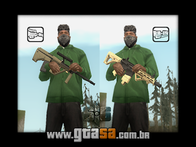 Pack de Rifle de Precisão (SAUG1 e AR15C) para GTA San Andreas