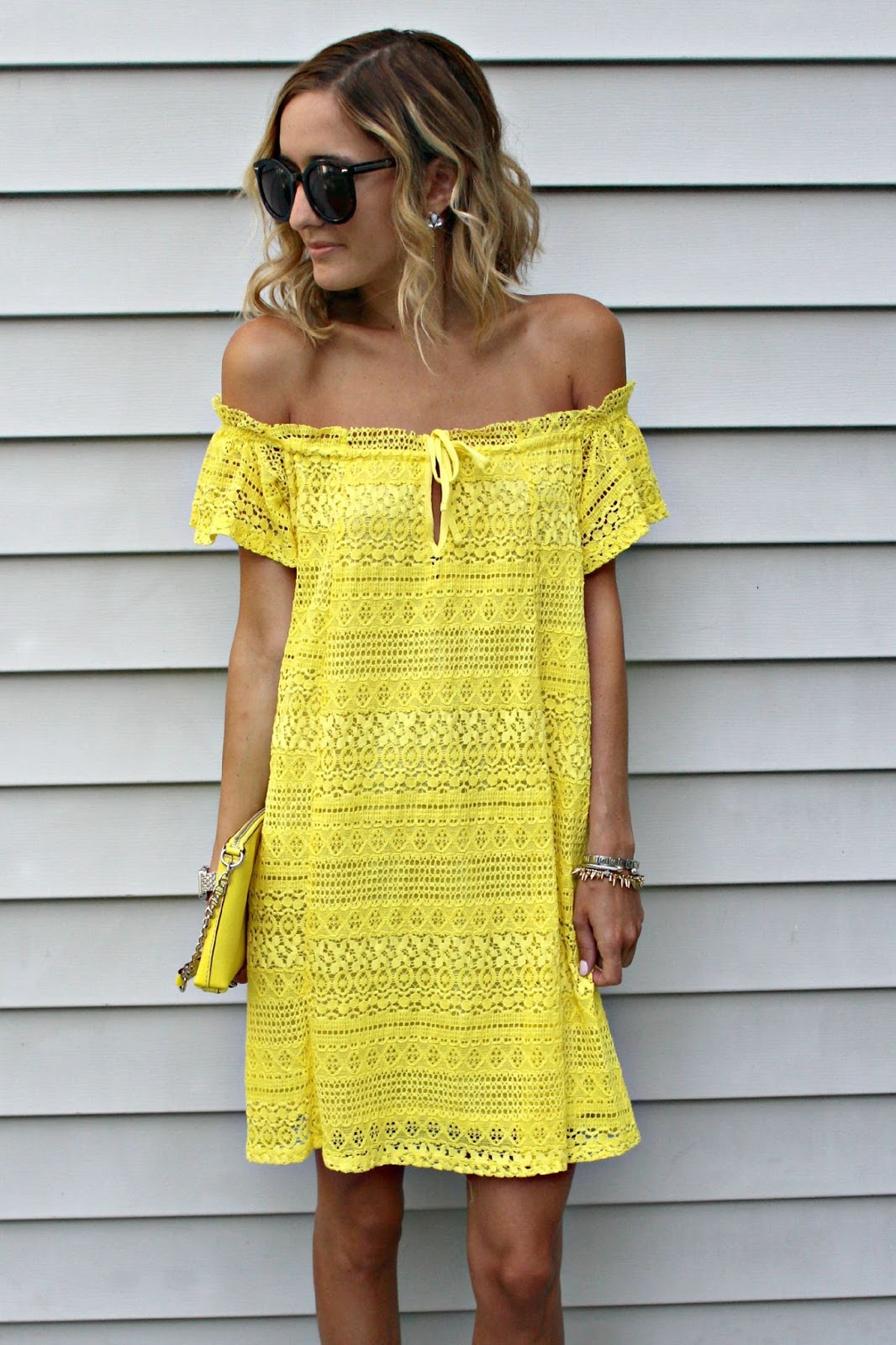 topshop yellow lace dress