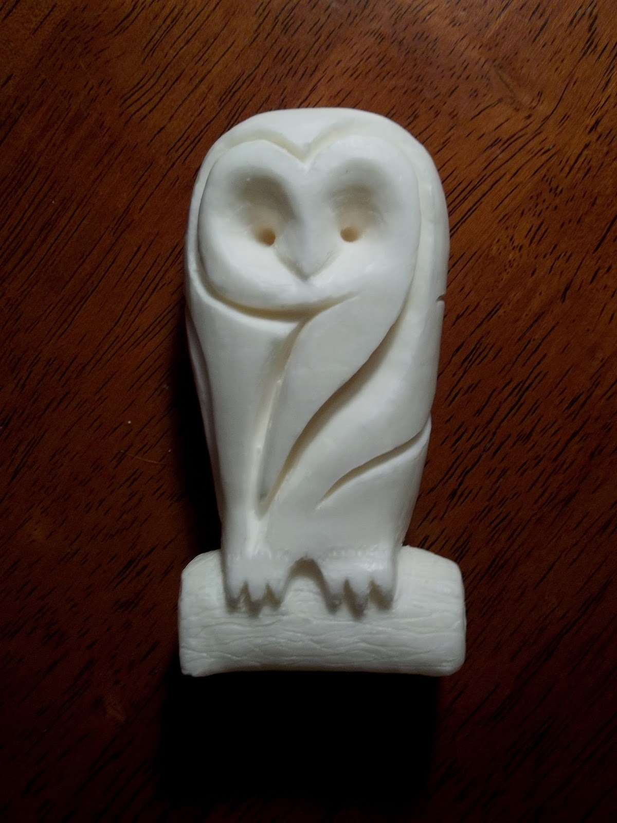 Rc sculpture soap barn owl