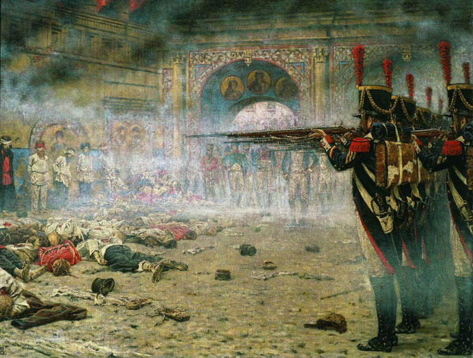 Historienmalerei  Historienmalerei: Der schmutzige Krieg