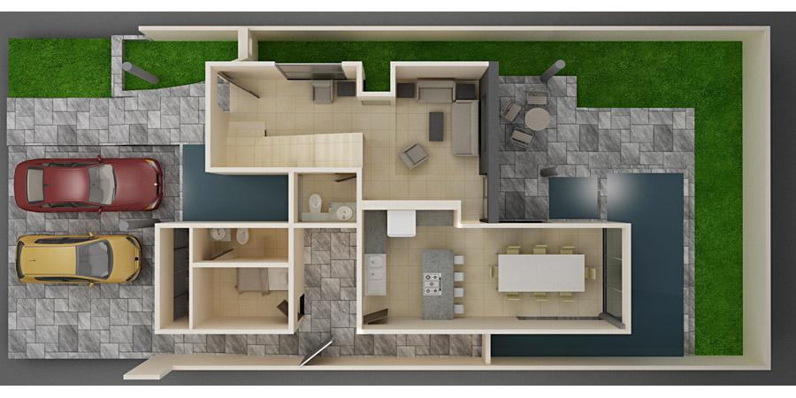 Planos de casas y plantas arquitect nicas de casas y for Recamaras individuales contemporaneas