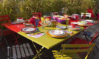Déco de table colorée
