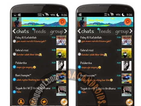Download BBM Mod Thema WP Dark v2.6.0.30 Floating Tab