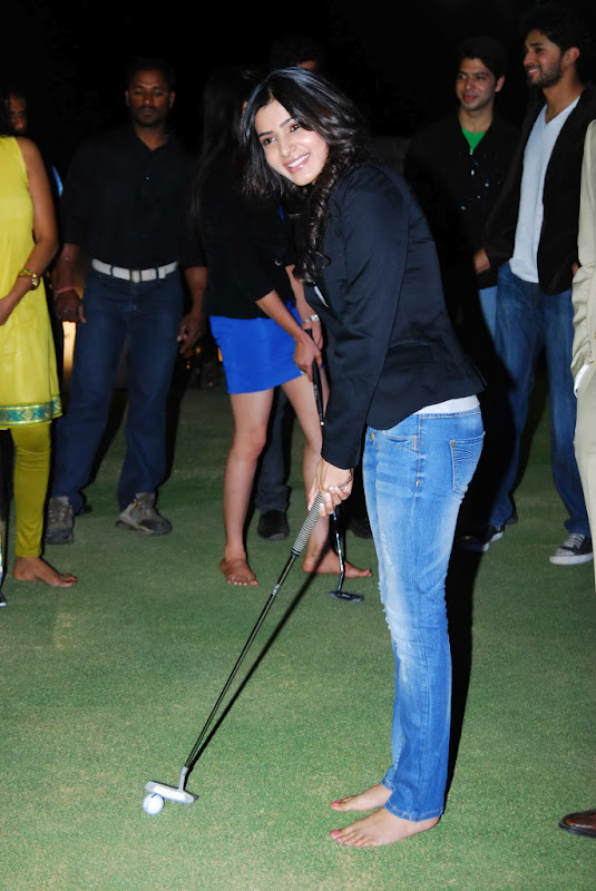 Samantha Latest Stills in Jeans playing Golf, Samantha Ruth Pictures