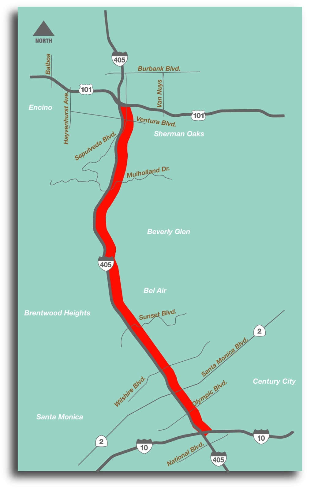 Southbound I405 Full Freeway Closure set for March 9 Caltrans