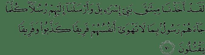 Surat Al-Maidah Ayat 70