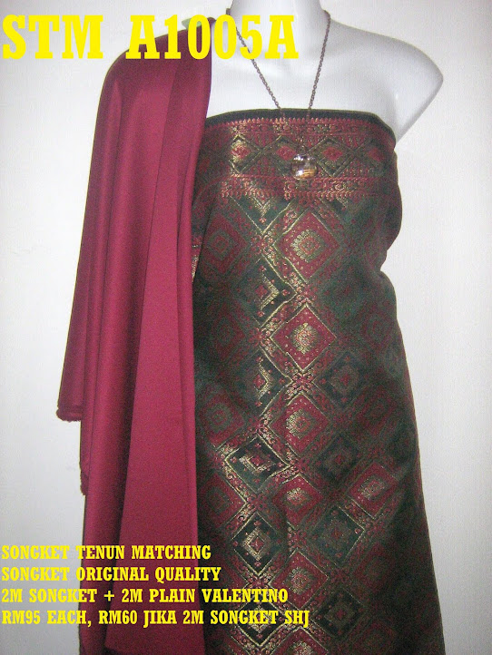 STM A1005A: SONGKET TENUN MATCHING, HIGH QUALITY, 2M SONGKET + 2M PLAIN