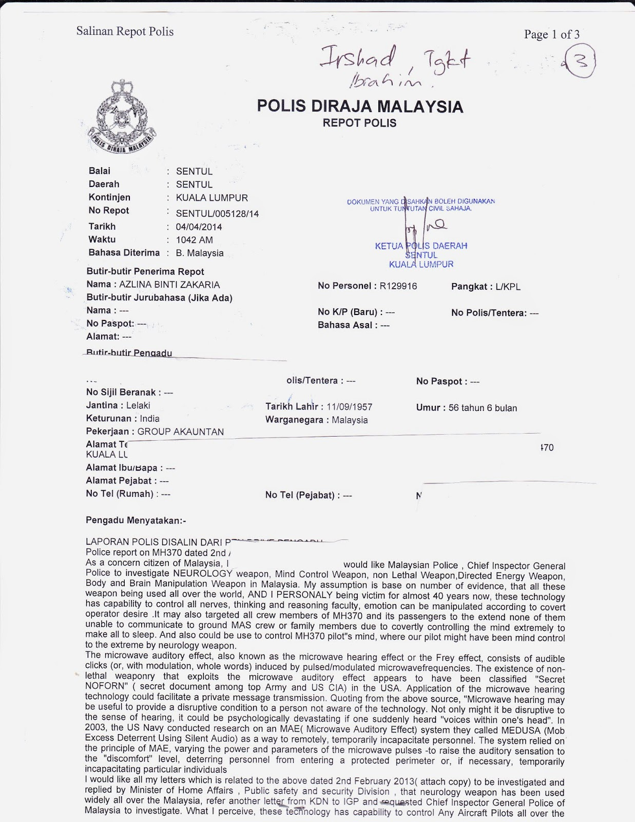 Electronic harassment amp organized stalking in malaysia