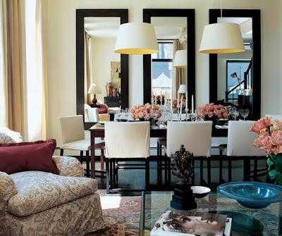 espelhos na sala de jantar dicas de decoração