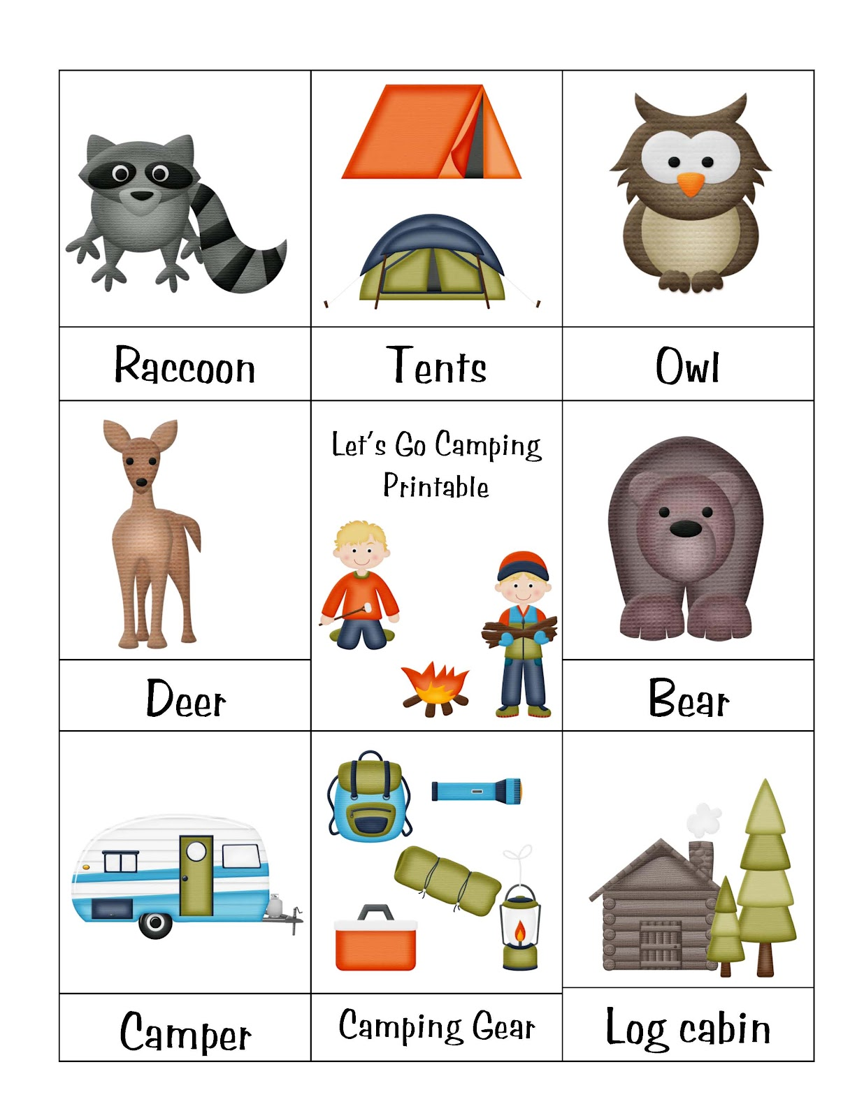 camping preschool camps web site camps printables camps theme