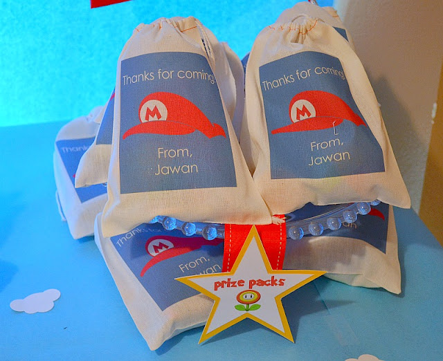 Mario party drawbag favors