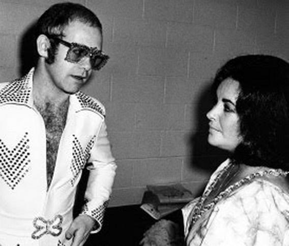 Photo Elton John And Liz Taylor
