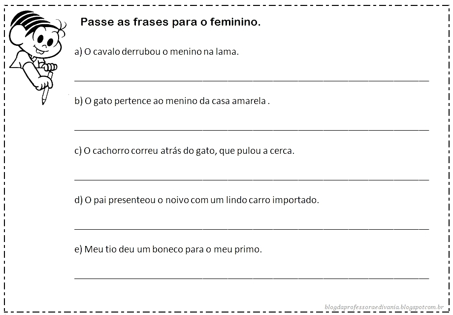 Blog Da Professora Edivania Masculino E Feminino