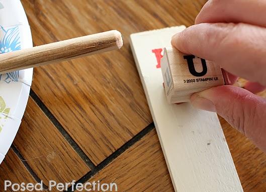 Valentine Stamped Shim Markers