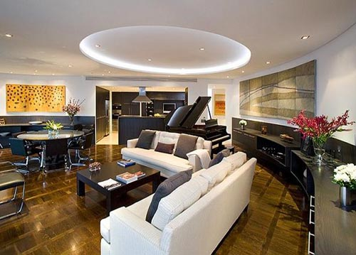 Living Room With Luxury Furniture