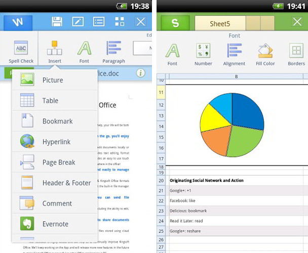 Kingsoft Office 5.2 (Free) Para Dispositivos Android
