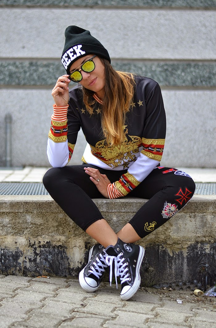 look converse e leggings