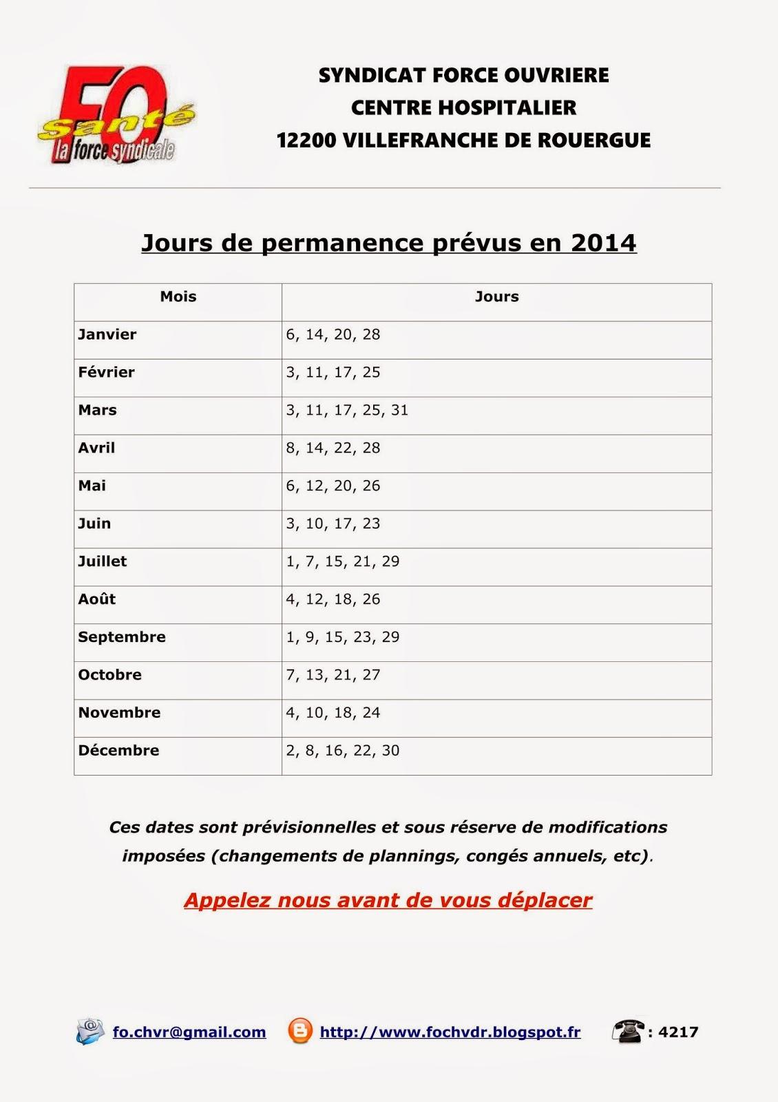 Syndicat fo du ch de villefranche de rouergue janvier 2014 - Grille indiciaire fph 2015 ...