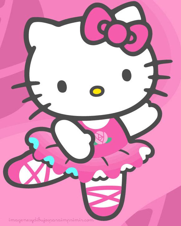 kitty en rosa para imprimir