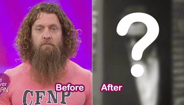 A before and after look at Aaron, the Caveman.